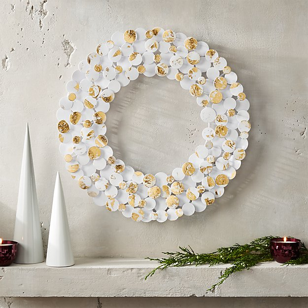 White Brass Foil Bubble Wreath
