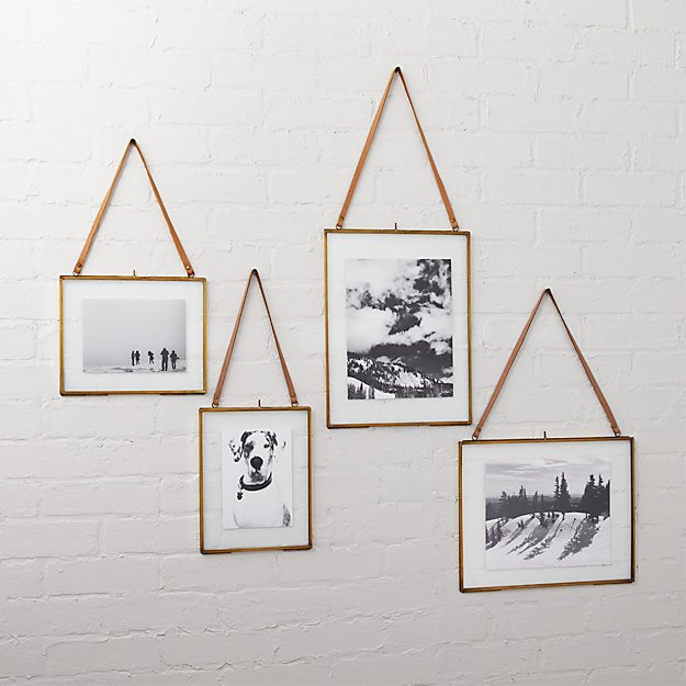 Brass Floating Picture Frames Cb2