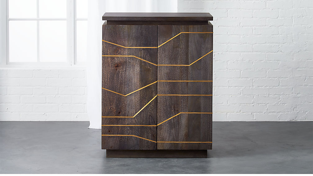 Brass Inlay Cabinet Reviews Cb2