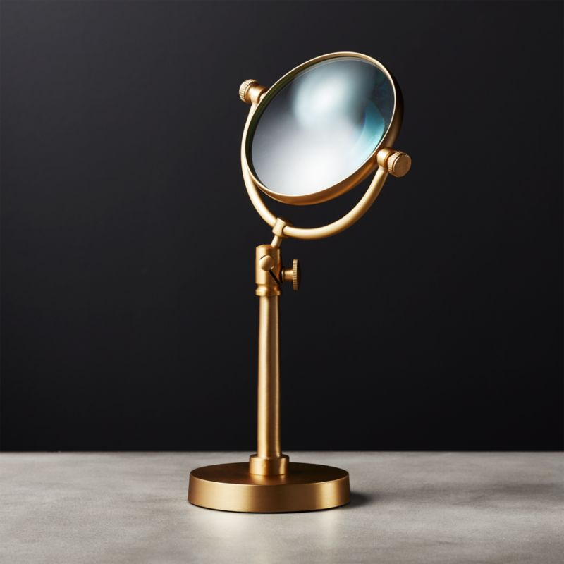 Standing Brass Magnifying Glass by Crate&Barrel