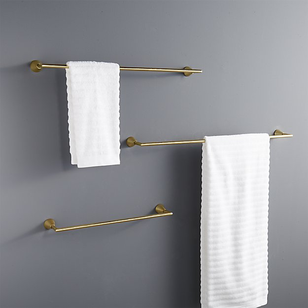 brass towel bars