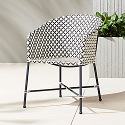 brava dining-lounge grey wicker chair