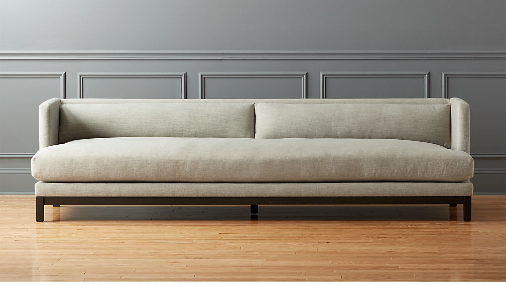 Brava long sofa reviews cb2 for Cb2 leather sectional