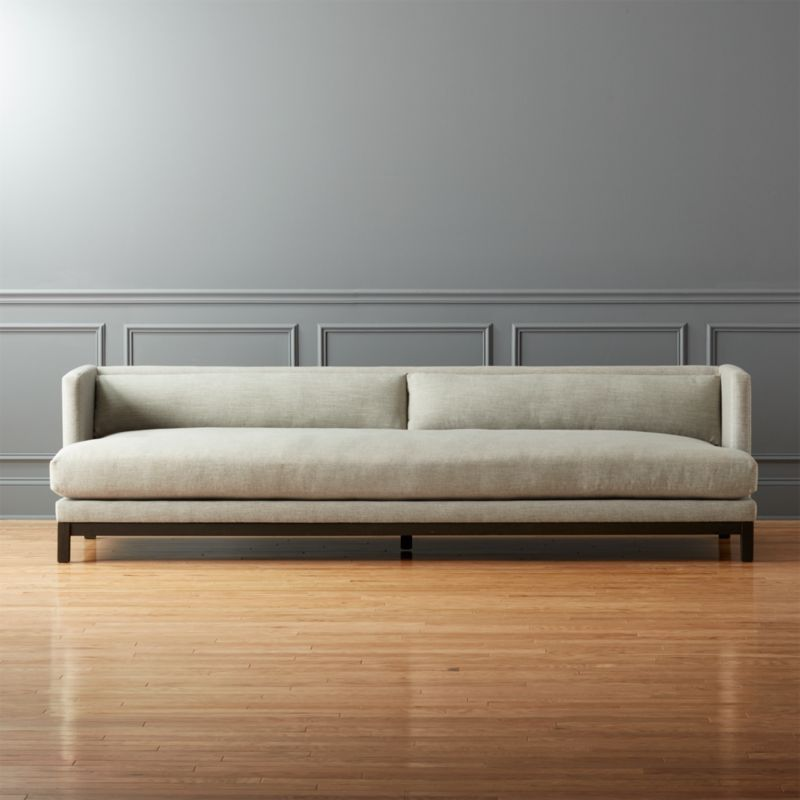 Brava long sofa cb2 Sleek sofa set designs
