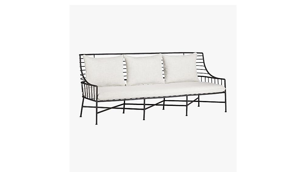 breton black metal sofa