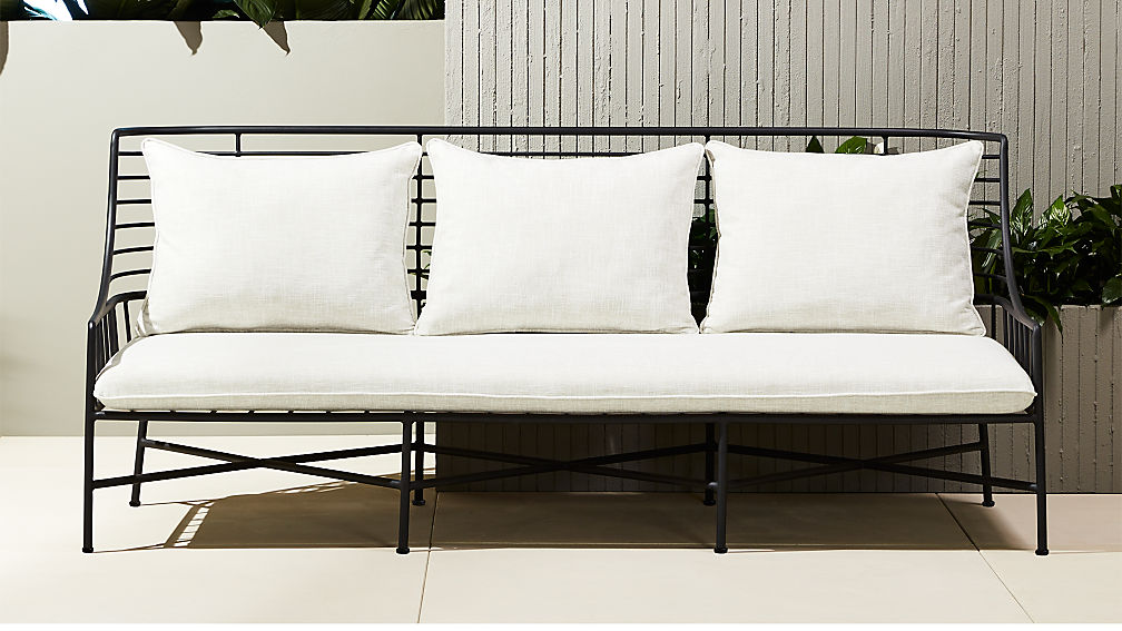 Breton Black Metal Sofa  Cb2. Chair King Patio Furniture Houston. Outdoor Furniture Repair Hawaii. Restoration Hardware Patio Furniture Cushions. Dimensions For Patio Furniture