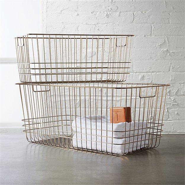 bridgeport metal wire baskets