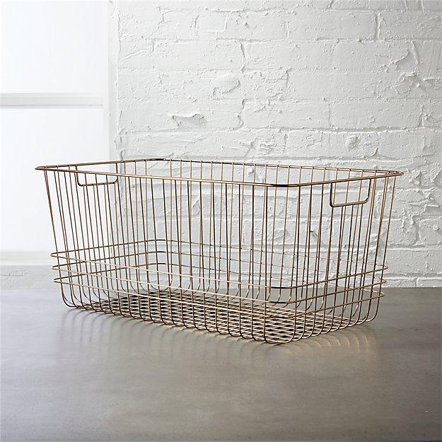bridgeport large metal basket