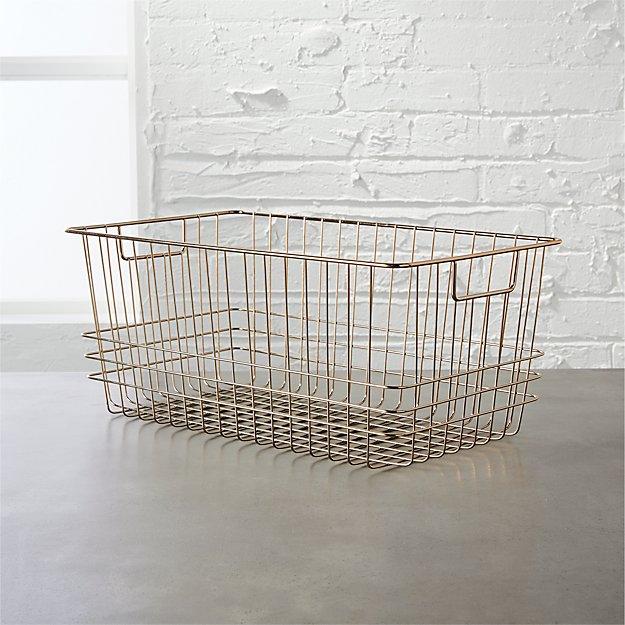 bridgeport small metal basket