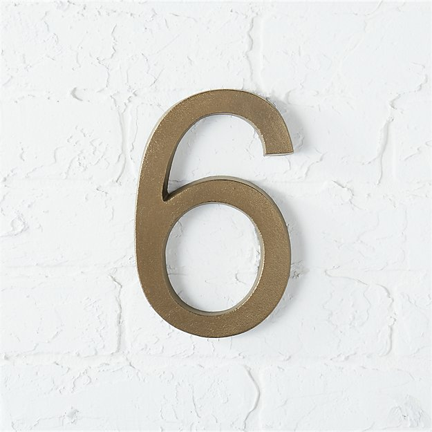bronze house number 6