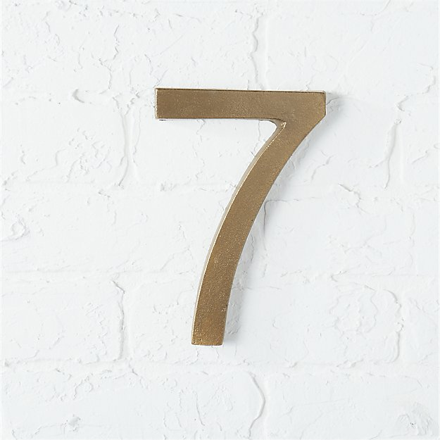 bronze house number 7