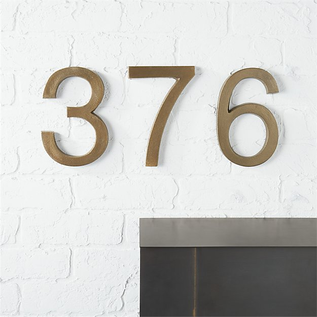 Bronze house numbers cb2 for House numbers