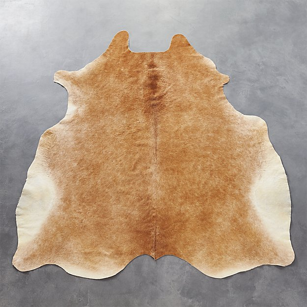 cowhide light brown rug 5'x8'