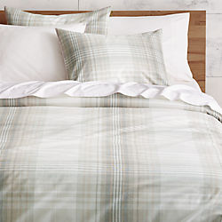 bruno plaid bed linens