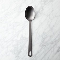brushed black spoon