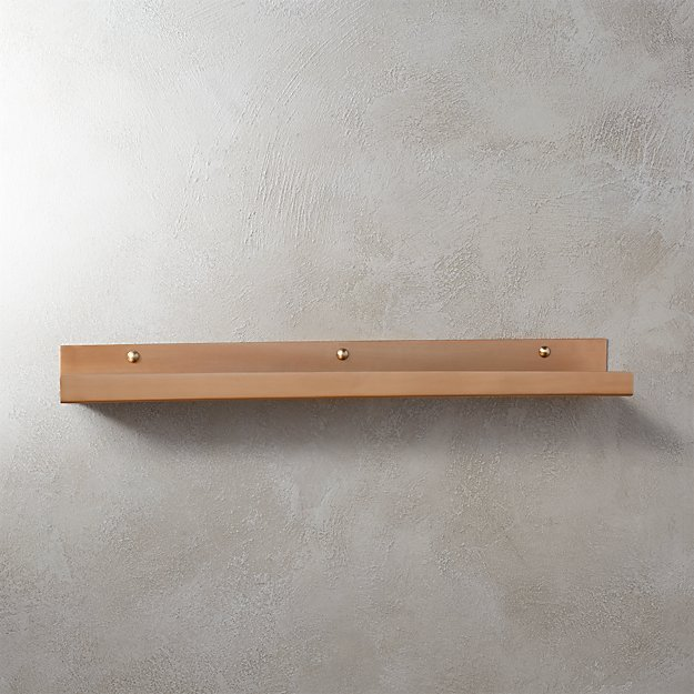 brushed copper wall shelf 24""