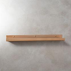 "brushed copper wall shelf 24"""