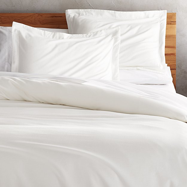 Brushed Natural Flannel Full/Queen Duvet Cover