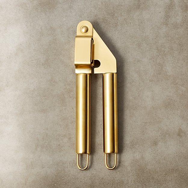 Brushed Gold Garlic Press