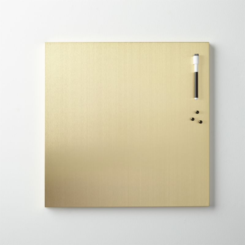 Shared Board Cause To Pause: Brushed Gold Dry Erase Board + Reviews