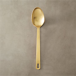 brushed gold spoon