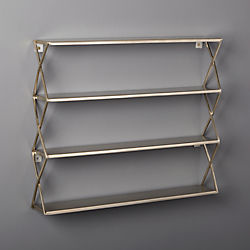 Brushed Stainless Steel X Shelf