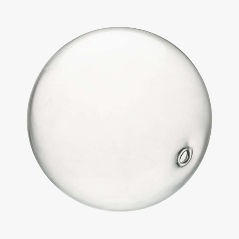 "<span class=""copyHeader"">blowing bubbles.</span> Handblown glass sphere is light as a bubble with small hole from the glassblower's rod.<br /><br /><NEWTAG/><ul><li>Handblown glass</li><li>Hollow and feather light</li></ul>"