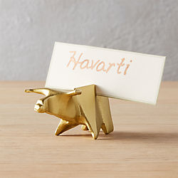 bull place card holder