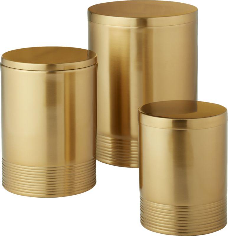 Online Designer Dining Room Bulletproof Small Gold Canister