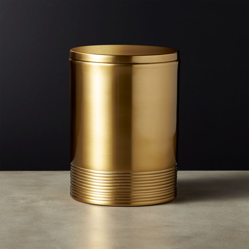 Online Designer Dining Room Bulletproof Medium Gold Canister
