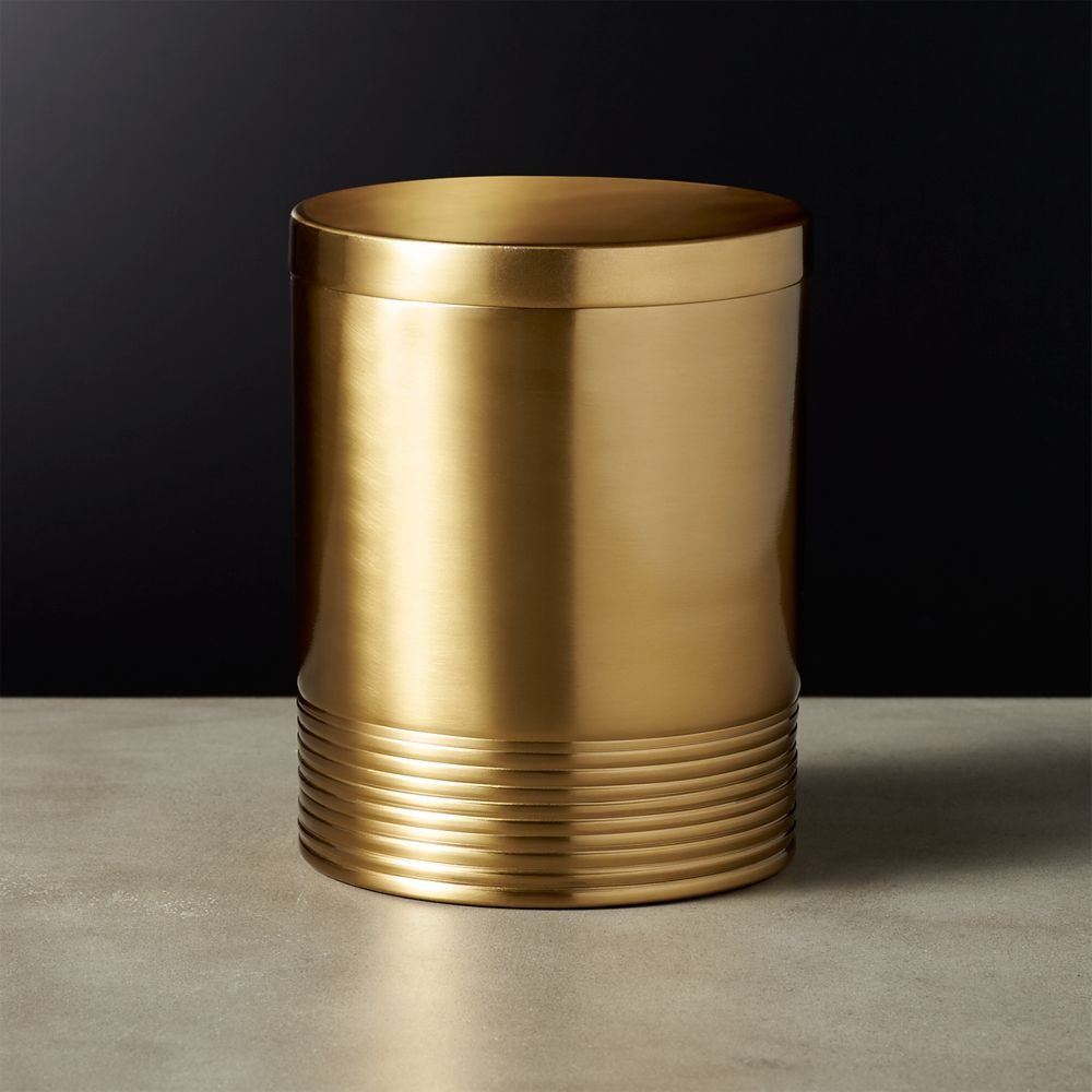 Online Designer Dining Room Bulletproof Small Gold Canister