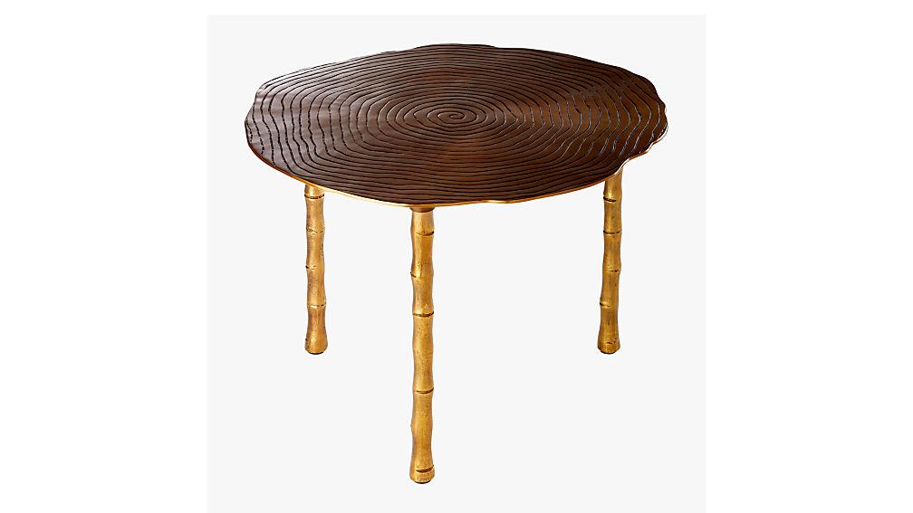 bronze bamboo bunching side table