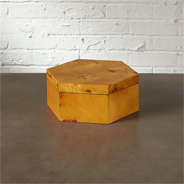 burl wood small storage box