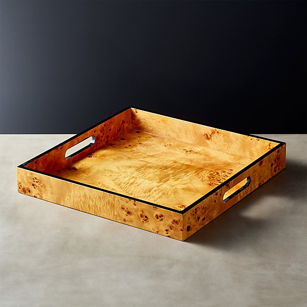 Square Wood Serving Tray Reviews Cb2