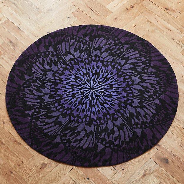 butterfly wheel rug 8'