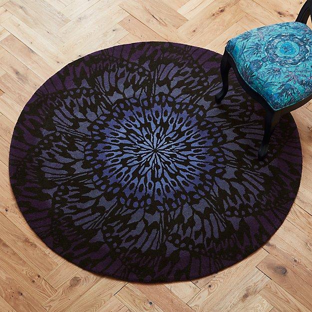butterfly wheel rug