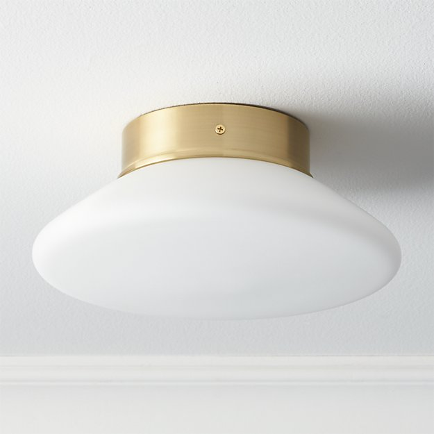 button flush mount lamp CB2