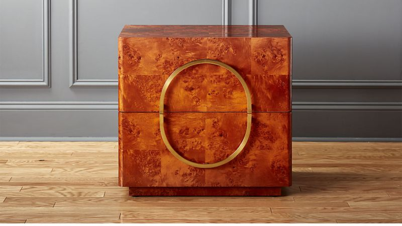 Genial Design By Mermelada Estudio, The Nightstand Features A High Gloss Burl Wood  Veneer That Gives It A Pretty, ...