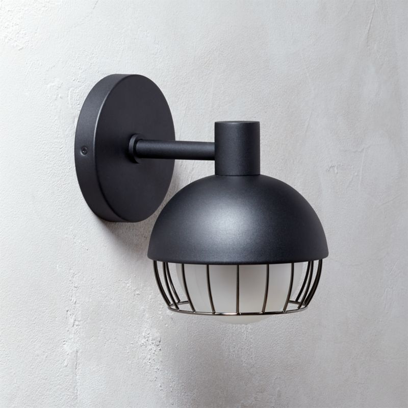 Cage Black Outdoor Wall Sconce CB2