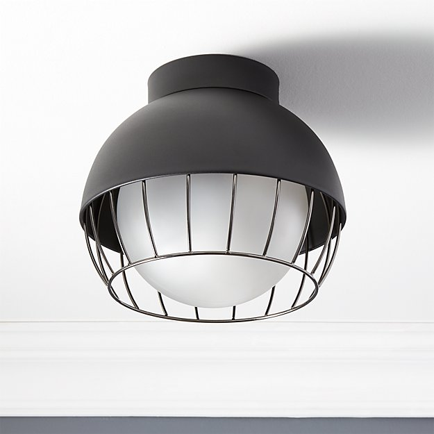 Cage Indoor-Outdoor Flush Mount Lamp