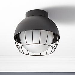 Cage Indoor-Outdoor Flush Mount Lamp