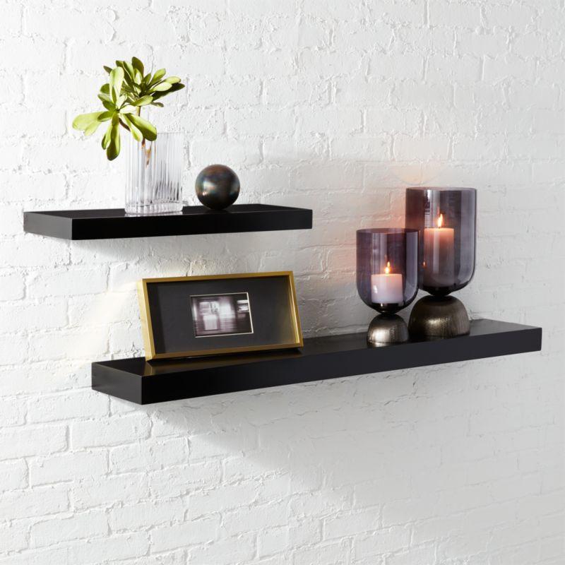 Calvin Matte Black Floating Shelves