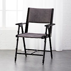 Superior Campaign Black And Grey Chair