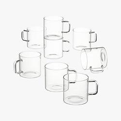 set of 8 cantina glass mugs