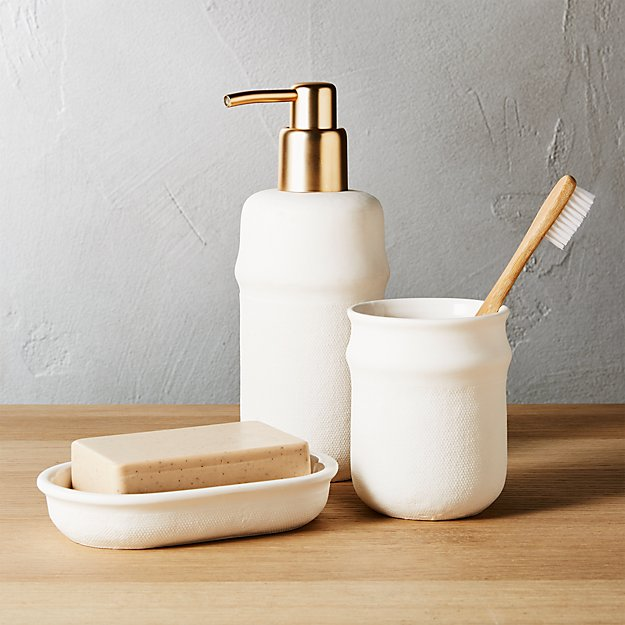 Canvas toothbrush razor cup in bath accessories reviews for Bathroom accessories hs code