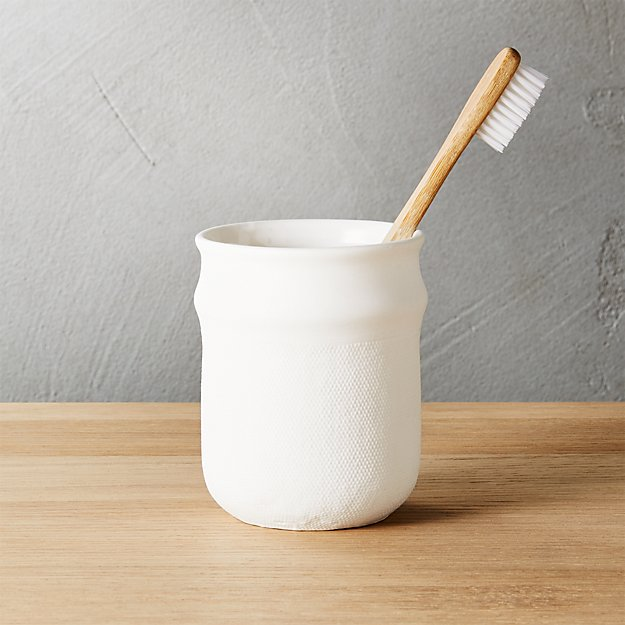 canvas toothbrush-razor cup