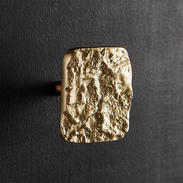 canyon matte brass knob