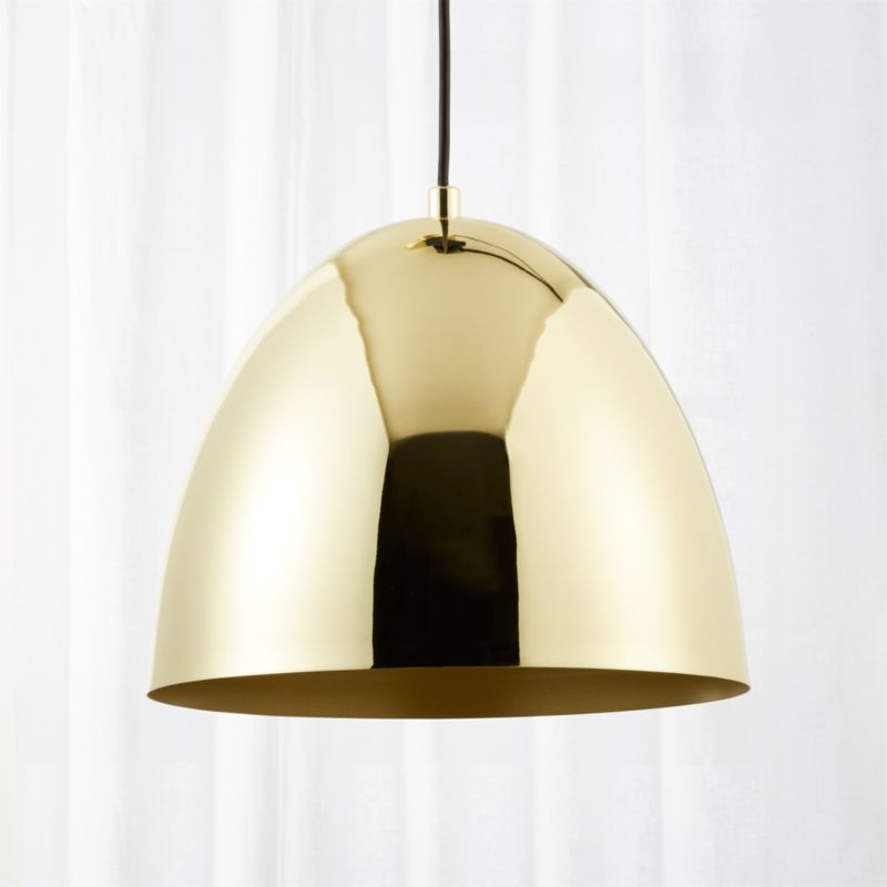 Capitol Small Brass Bell Pendant Light - Contemporary Lighting And Lamps CB2