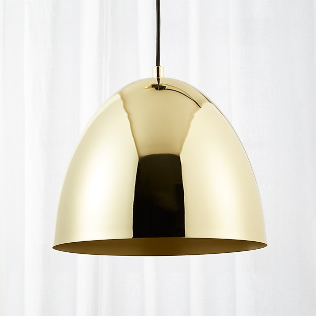 Capitol small brass bell pendant light reviews cb2