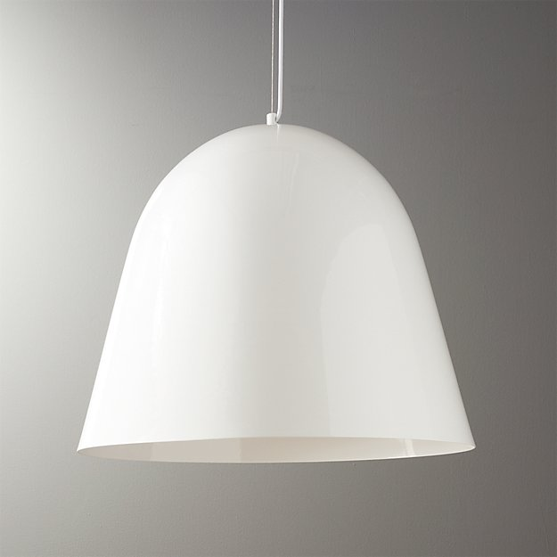 Capitol White Bell Shaped Pendant Light + Reviews
